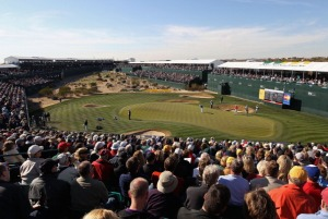 The iconic 16th at TPC Scottsdale