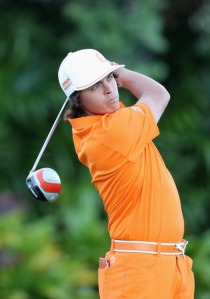 Fowler in his usual orange attire will go close this week