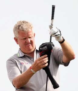 Colin Montgomerie looking perplexed. At his 31 Tour titles, or his 3 2nd placed finishes at the majors? Who knows.