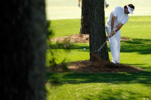 It would be far easier to find the fairway Bubba...