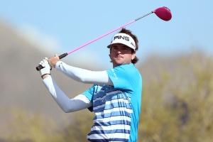We do love that pink driver. Bubba got style
