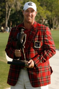 Boo picking up the unusual trophy back in 2007. He loves it