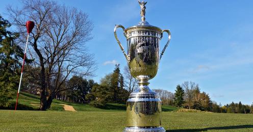 The famous US Open trophy