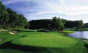 The beautiful TPC River Highlands course