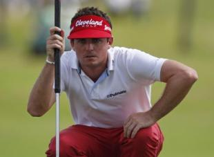 The steely concentration of Keegan Bradley