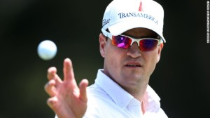 Zach Johnson is always found sporting delightful sunglasses.