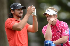 Two of our picks, Jason Day and Luke Donald joking together