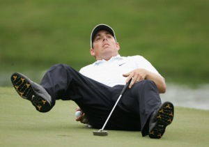 Lets hope he has a bit more composure on the greens than this