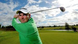 Shane Lowry showing his abilities as a model.  Potential career after golf?