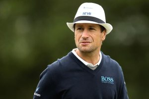 Steve Webster can rival anyones headwear.  Also a tribute to the great Seve.  What a man