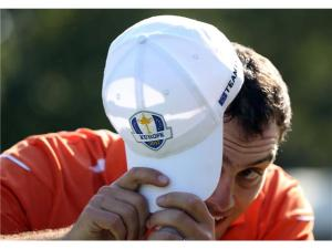 Molinari hiding away from the scary Halloween weekend.  He won't be hiding from the leaderboard come Sunday however.