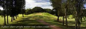 The very tight Durban Country Club.