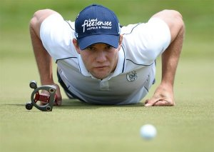 The German leaves no putt un-checked