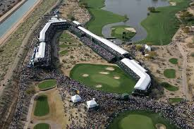 The aerial view of one of the best holes in world golf