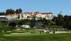 One of the greatest finishing holes in world golf.  Tremendous