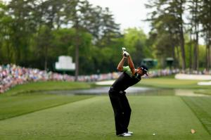 Dustin Johnson off thee at the final round last year. Photography courtesy of GettyImages