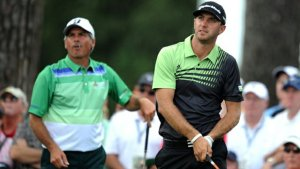 Dustin Johnson learning from the original big hitter. Boom Boom indeed