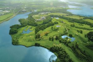 The beautiful aerial view of Fota Island