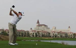 Rory McIlroy teeing it up at Lake Malaren last year.  He isn't here in 2014, but you can see you gorgeous this course is