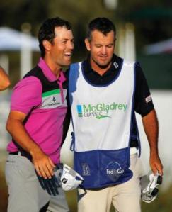 Robert Streb showing his delight at winning the McGladrey last year  Stephen B. Morton / Associated Press